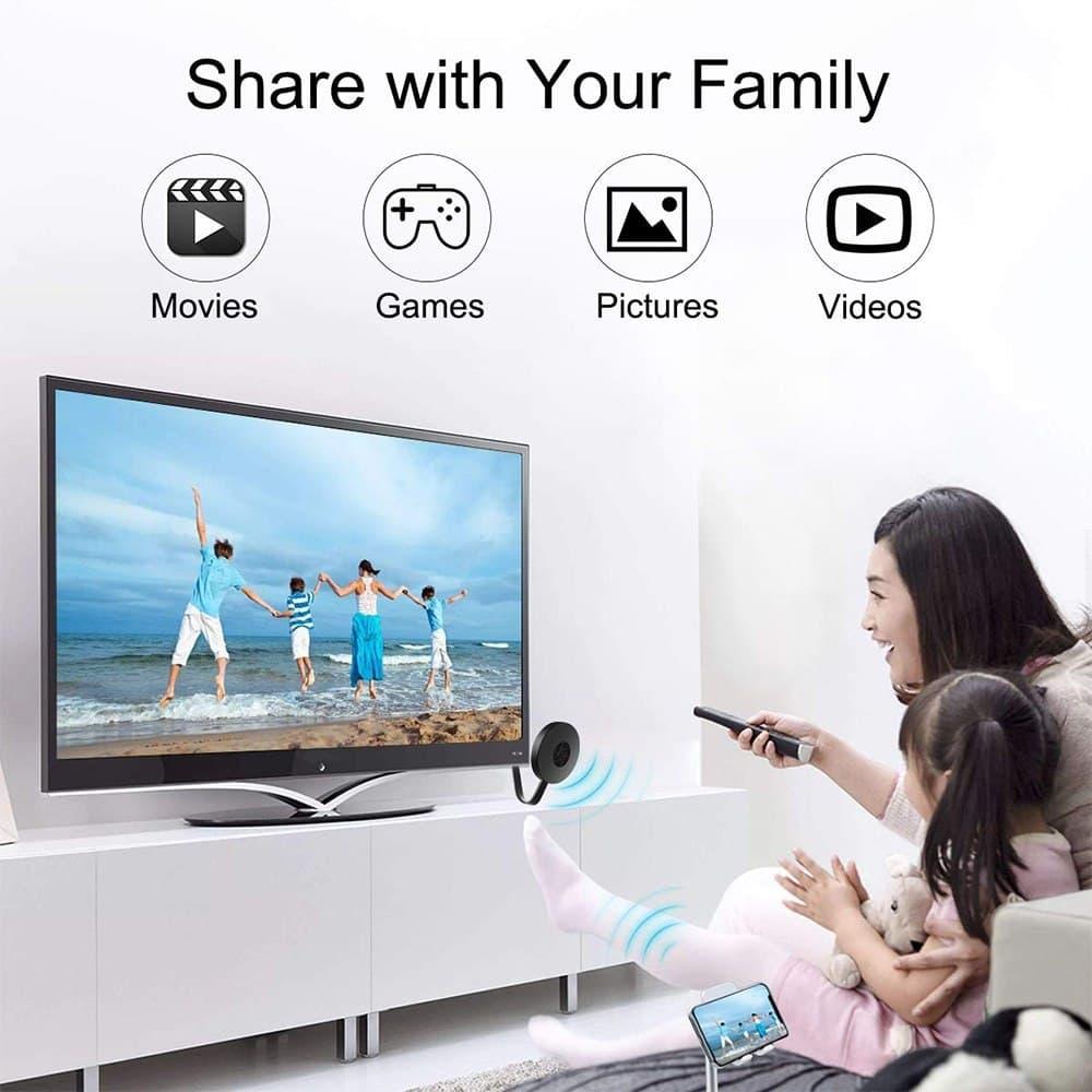 WiFi Display TV Dongle Receiver Chromecast 4K HDMI TV Stick Screen Mirroring DLNA