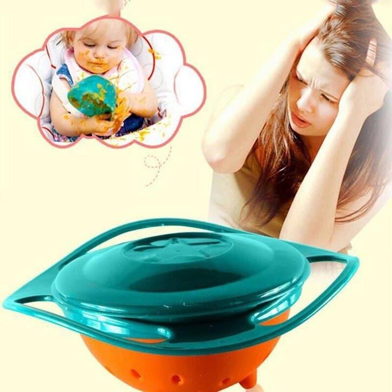 Universal Gyro Bowl 360 Rotate Spill-Proof Baby Feeding Dish Gyro Bowl Tableware