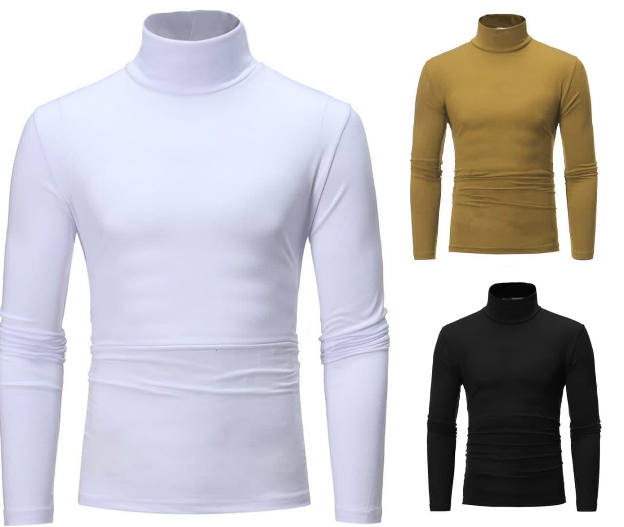Pack Of Three Womens Winter Warm Long Sleeve Fleece High Neck Pullover Top