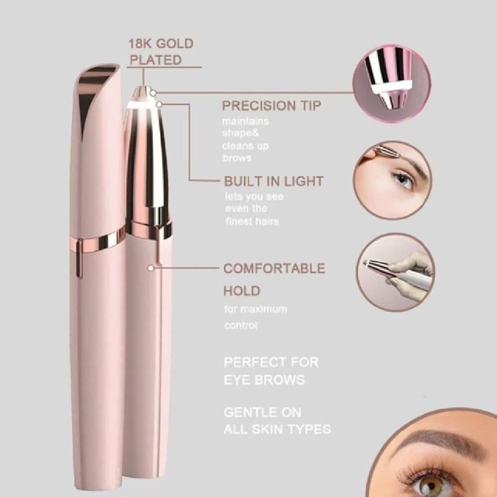 Electric Eyebrow Trimmer Makeup Shaver Razor Portable Epilator Facial Hair Remover For Women