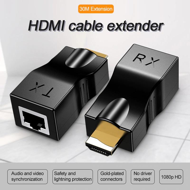HDMI Cable Extender 4k RJ45 Ports 1080P HD Network HDMI Extension HDMI To RJ45