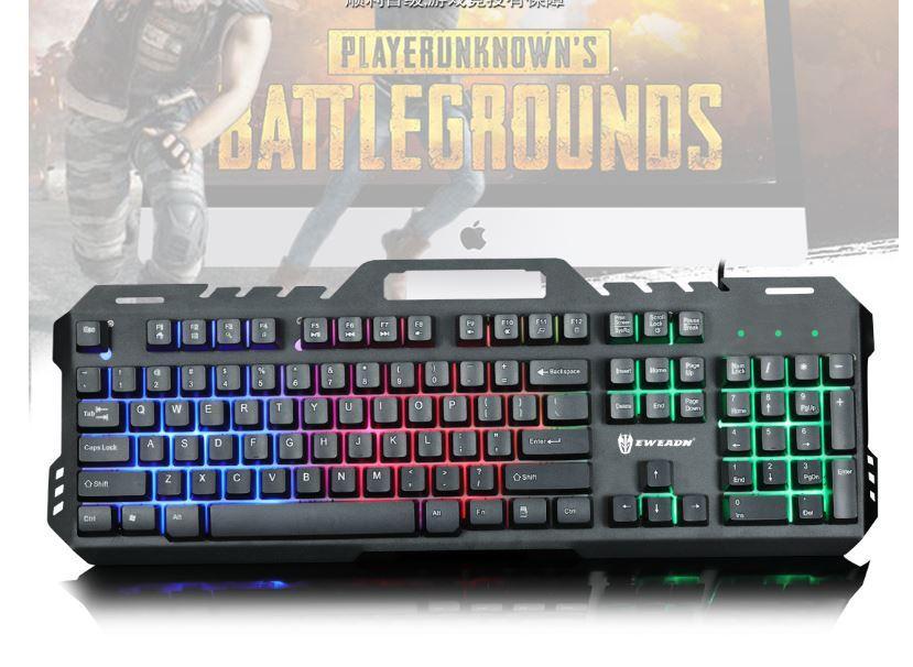 GT-5 Metal Back Light Gaming Keyboard Rainbow Backlight Suspended Key Press