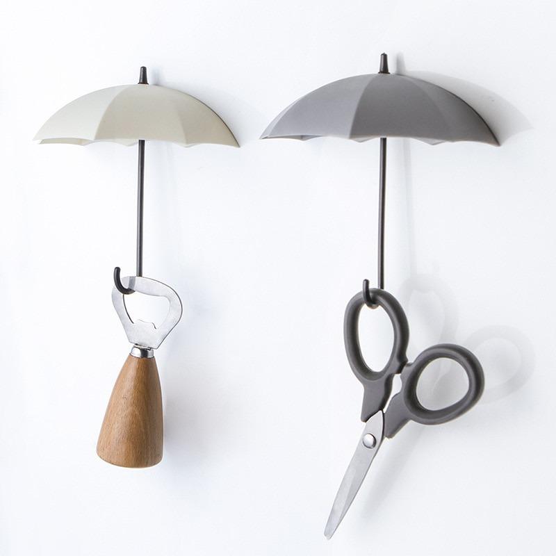 3 Pcs Umbrella Hook Wall Door Key Hanger Key Holder Decorative Hooks