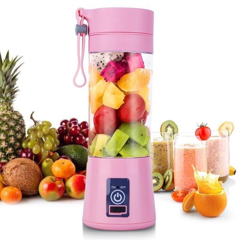 6 Blades USB Charger Portable Juice Blender Mixer Fruit Electric Smoothie Maker