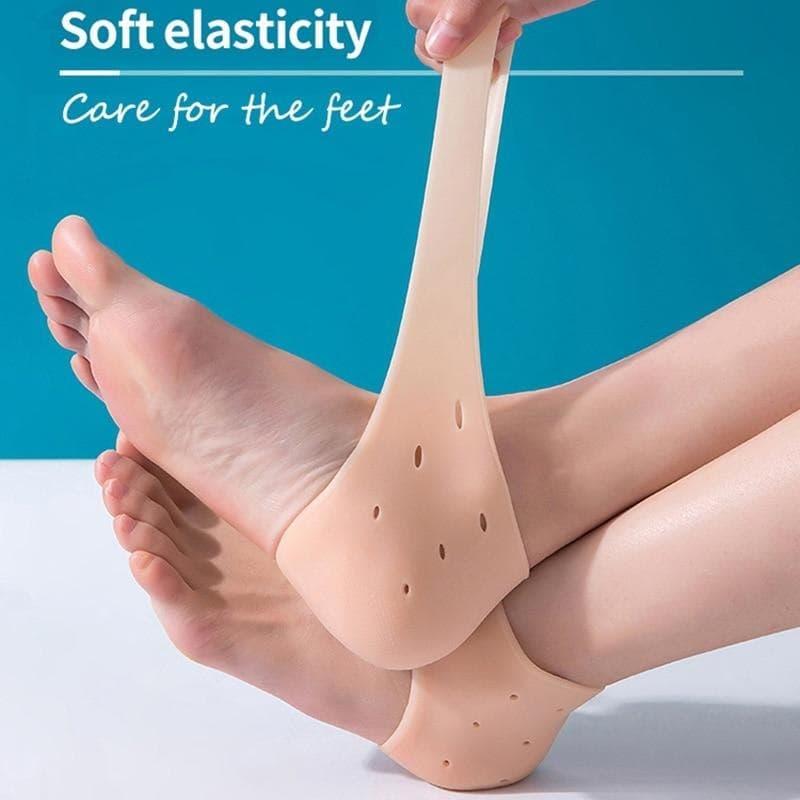2Pcs Silicone Gel Moisturizing Heel Socks Unisex Foot Protectors Shoe Cushion